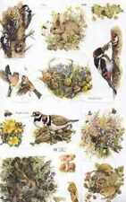 Victorian style decoupage scrap scrapbooking art projects Wild animals Birds