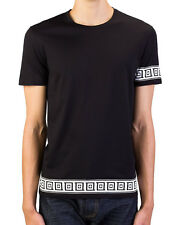 Versace Collection Slim Fit Black Greca Print T-Shirt Large