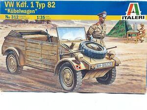 ITALERI VW Kdf 1 Typ 82 Kubelwagen WWII Roadster 1:35 Plastic Scale Model Kit