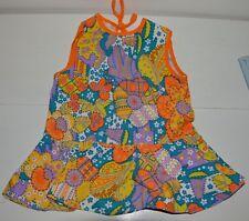 896bc72c46c39 Vêtement enfant ancienne robe été fille retro colorée vintage 70 S