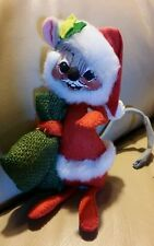 Annalee Doll MOUSE Mice HOLIDAY DECOR SANTA S LITTLE HELPER 1965