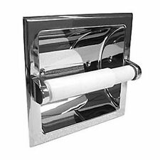 Recessed Polished CHROME Toilet Tissue Paper Holder Bathroom Hardware in wall