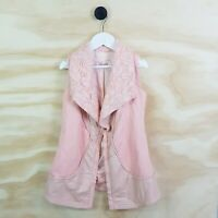 Size 6 PETITE By CELINE Girls Pink Vest  Jacket