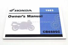 New Owners Manual CB650SC NIGHTHAWK CB650 1983 OEM Honda Book   #i59