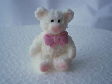 12 Edible white teddy bear Christening cake toppers/Baby shower cake decorations