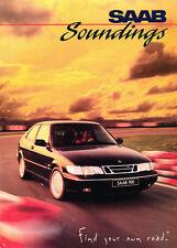 1995 1996 SAAB Soundings enthusiast Car Brochure - 9000 900