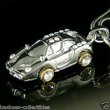 Ferrari Enzo CAR made with Swarovski Crystal miniature Race Sports Necklace Xmas