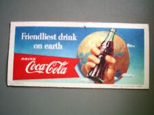 1956 Coca-Cola Blotter - Friendliest drink on earth