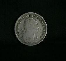 1946 Portugal 50 Centavos Copper Nickel World Coin KM577 Liberty Head Shield