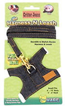 Ware Ferret Walking Jacket Denim Jeans Harness N Leash Small Critter with Lead