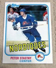 1981-82 Topps #39 Peter Stastny RC Rookie - Quebec Nordiques