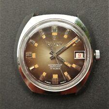 CAUNY Prima Vintage 1970s Watch FHF 96-4 Reloj Montre Orologio Uhr Swiss