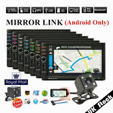 UK Stock ! 7'' 2 DIN Touch Screen Car Stereo Radio Player FM/USB/AUX Mirror Link