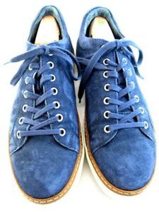 """Allen Edmonds """"PORTER DERBY"""" Men's Suede Sneakers 9.5 D Navy  (693)"""