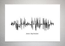 Avicii - Hey Brother - Sound Wave Print Poster Art