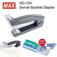 MAX HD-10V Swivel Booklet Stapler (Made in Japan) + 1 Box Staples FREE!