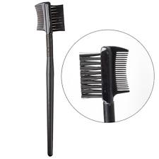 Black New Metal Comb Brush For Lash & Eyebrow Cosmetic Makeup Eyelash