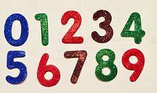 Number GLITTER SELF ADHESIVE STICKERS 0 1 2 3 4 5 6 7 8 9 Glitter Scrapbooking