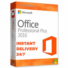 ORIGINAL OFFICE PROFESSIONAL PLUS 2016 LICENSE KEY GENUIN 32 / 64BIT SCRAP PC