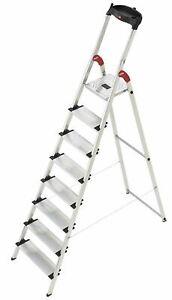 Hailo 8040-807 8 Tread Aluminum Deluxe Extra-Deep Comfort Steps
