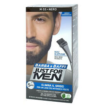 Just For Men Barba E Baffi Colore Permanente Con Pennello Nero M55 2X 14 ML