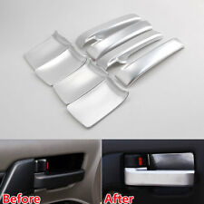 8x Car Door Handle + Handle Bowl Cover Trim For Toyota Land Cruiser LC200 08-16