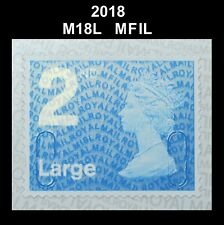 2018 - 2nd Large - M18L - MFIL  Single Stamp from 4x2nd booklet on SBP2u Paper
