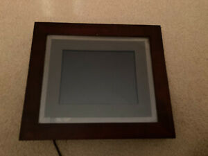 "Pandigital PAN8051 8"" Digital Photo Frame & Remote & Instr Book Used."