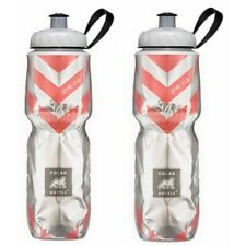 Polar Bottle Chevron Red Bpa Free Insulated Water Bottle 24oz Made In Usa Pac.