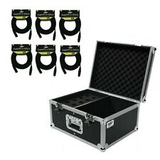 Osp Microphone Mic Ata Road Case Holds 15 Mics w/Storage & 6 Mic Cables 30' ft
