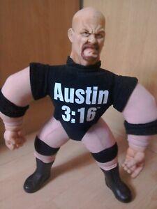 "WWF WWE Bone Crunching Buddies Stone Cold Steve Austin 16"" Plush Toy Rare"