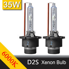 2Pcs HID White Headlight 35W D2S Xenon 6000K Car Driving Replacement Lamp Bulbs