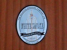 Salopian White Smoke small beer pump clip sign
