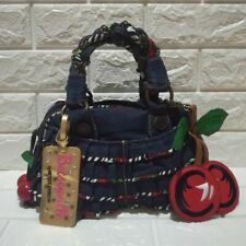 Betsey Johnson Cherry Denim Handbag