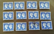 GB Stamps 12  x King George VI 2.5d - Blue 1940 SG483. Used, off paper. #483
