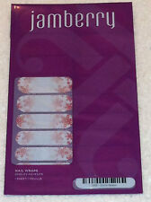 Jamberry H114 Joyful Season Sealed Sheet of Retired Nail Wraps Snowflakes Pink