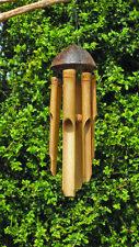 Bambú Carillón de viento naturales de bambú & Cáscara de Coco Comercio Justo Varios Tamaños