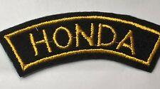 Honda Motorcycles Cloth jacket Patch 1990's 10.5 cm's