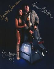 More details for doctor who autograph: tom baker, louise jameson & john leeson signed photo