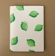 Authentic COACH PASSPORT CASE Holder WITH Lime  PRINT NWT 2351