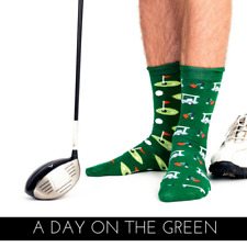 Golf Odd Socks - Quality Combed Cotton - Perfect Gift Idea 'A DAY ON THE GREEN'