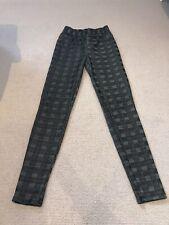 Size 8 Papaya Black Grey Checked Leggings