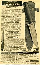 1938 small Print Ad of Case Hunting & Fishing Saber Knife