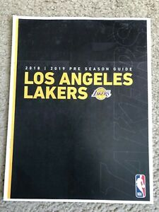 ther Los Angeles Lakers 2018-19 Preseason Media Guide with LeBron James