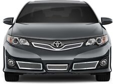 FITS TOYOTA CAMRY SE 12-14 STAINLESS CHROME MESH GRILLE INSERT TOP & BOTTOM 4PCS