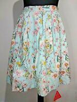 Joe Browns Pale blue wild flower skirt size 10 rockabilly net Cottagecore Summer