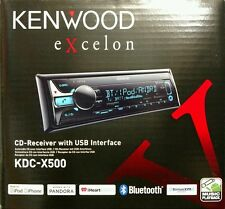 Kenwood Excelon KDC-X500 CD Receiver with USB Interface AUX/BT/SiriusXM