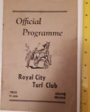 """RARE VINTAGE (GUELPH) """"1950 ROYAL CITY TURF CLUB- OFFICIAL PROGRAMME"""" HORSE RACE"""