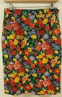 Vintage YVES SAINT LAURENT Rive Gauche Paris Made In France Floral Skirt size 42