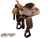 Synthetic Basket Weave Trim Western Pleasure Trail Horse Saddle 13 14 15 16 17